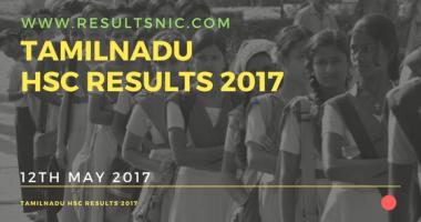 Tamil Nadu HSC Class 12 Results 2017