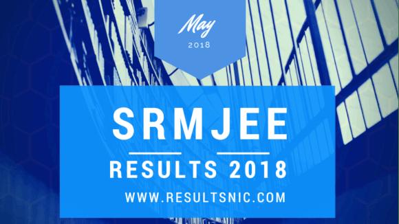 SRMJEE Result 2018