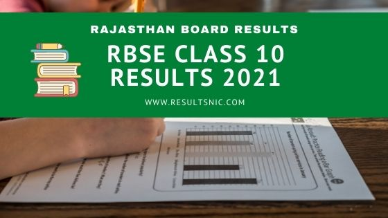 RBSE Class 10 Results 2021