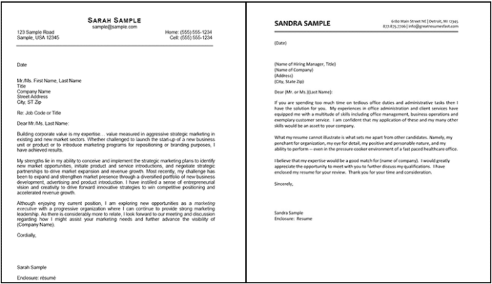Cover Letter Examples Written By Professional Certified Writers