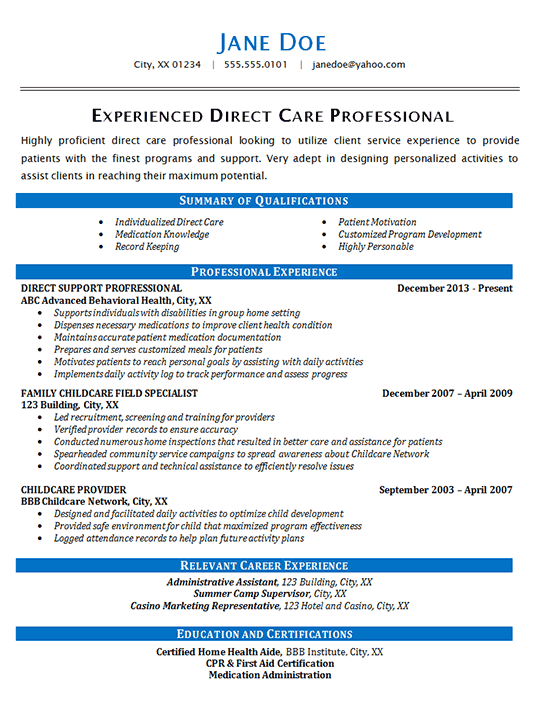 experienced nurse resume home health care resume resume sample 1595