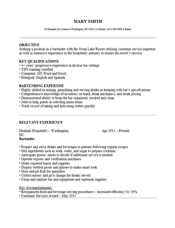 bar resume examples resume sample