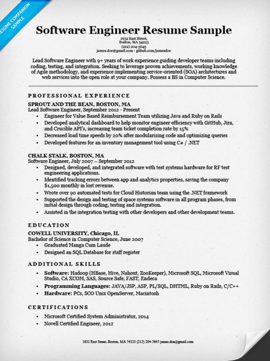 sle experience letter format for software engineer
