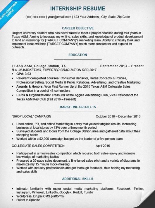 College Student Resume Sample Amp Writing Tips Resume Companion