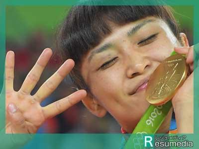 伊調馨 リオデジャネイロオリンピック 金メダル