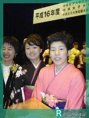 吉田沙保里 大学 卒業式