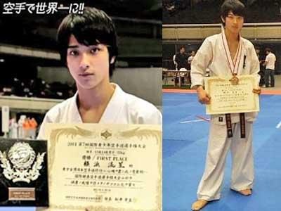 横浜流星 中学時代 3年生 空手 世界大会優勝