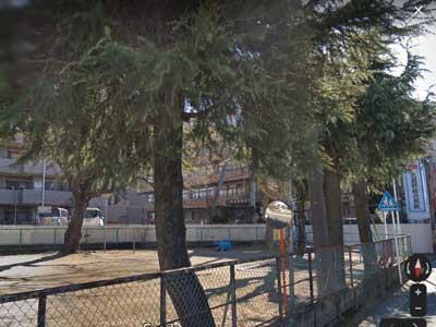 大東西中学校付近の神社公園