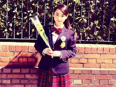 平祐奈 中学卒業式