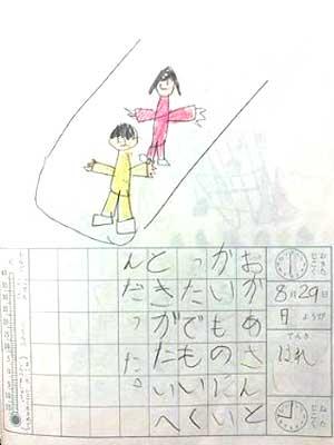 ローランド 幼稚園時代 絵日記