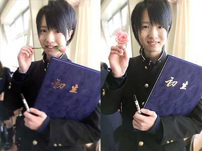西岡健吾 高校時代 卒業式