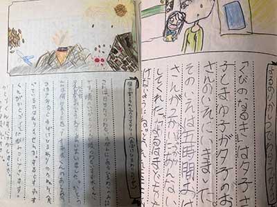 西田藍 小学生時代 文集