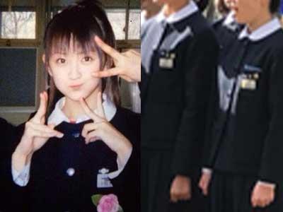 小松彩夏 一関中学校制服参考画像