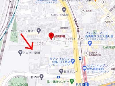 品川神社 グーグルマップ