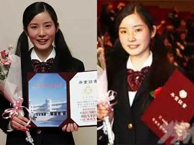 蓮佛美沙子 高校卒業式