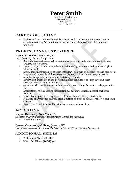 Resume Examples Secretary Resume Examples