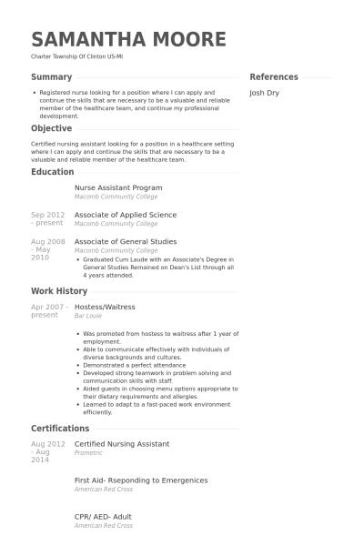 Resume Examples Waitress Resume Examples