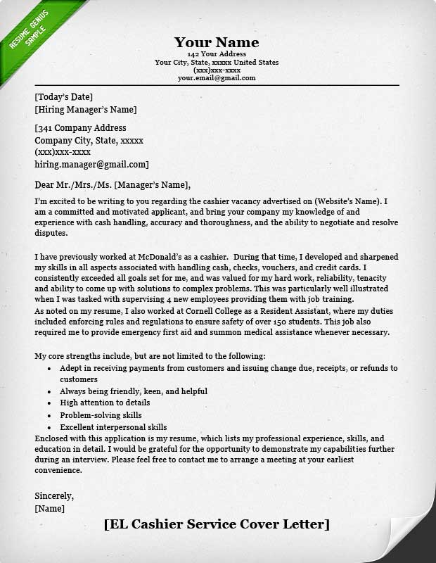 Resume And Cover Letter Chronological