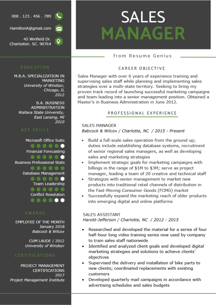 It's like a sales pitch with bite. 15 Manager Resume Examples Templates Writing Tips