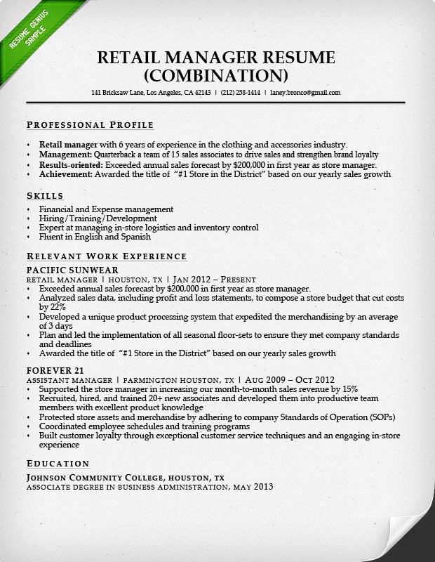 Sample Computer Science Resume Excel How To Write A Resume For A Retail Job  Resume Sample Cover Letter Sample For Resume Excel with Child Care Resume Skills Retail S Ociate Resume Sample Writing Guide Rg Search Resumes Indeed Excel