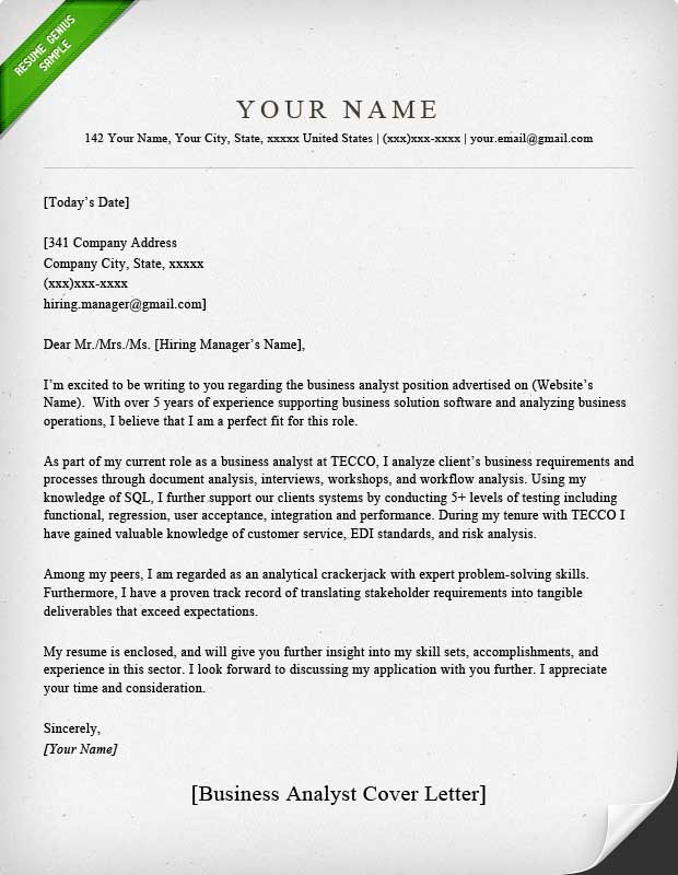 Real Estate Analyst Cover Letter Sample | Save Template