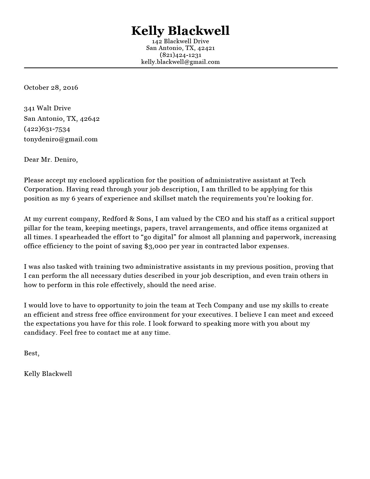 Cover Letter Builder