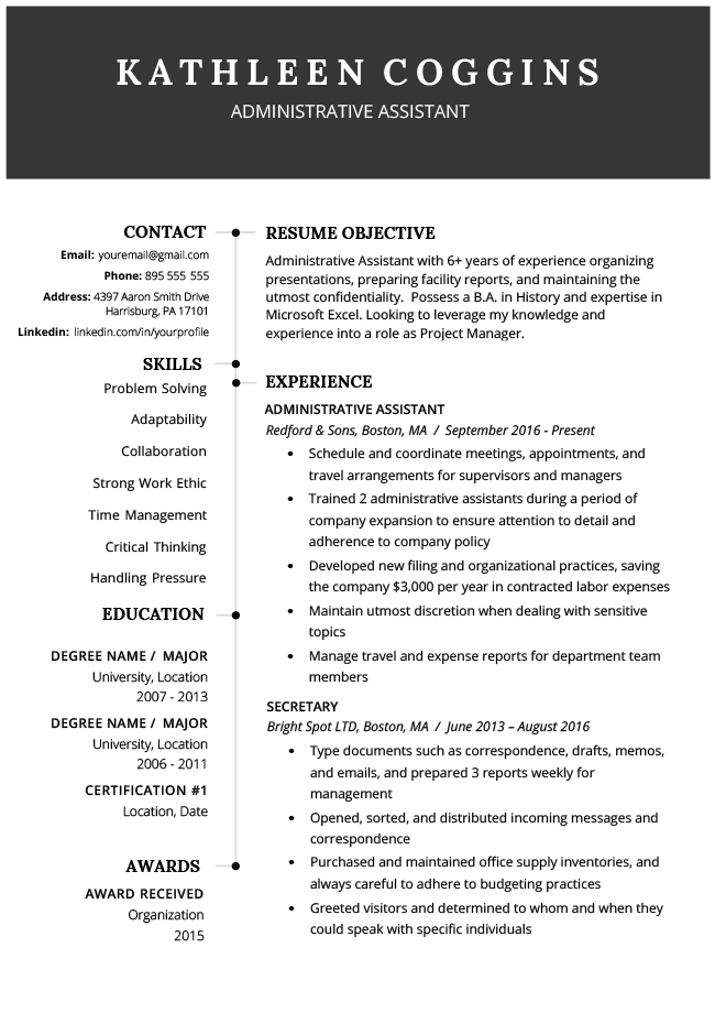 """The """"elegant"""" template from resume template injects colored bars to. 40 Modern Resume Templates Free To Download Resume Genius"""