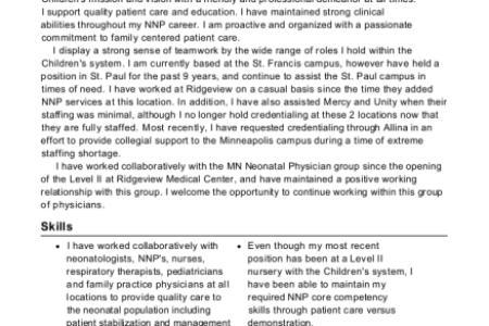 Free Resume 2018 » neonatal nurse practitioner education ...