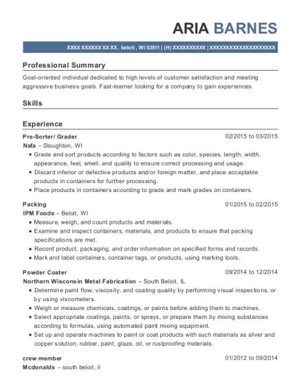 powder coating resume resume sample
