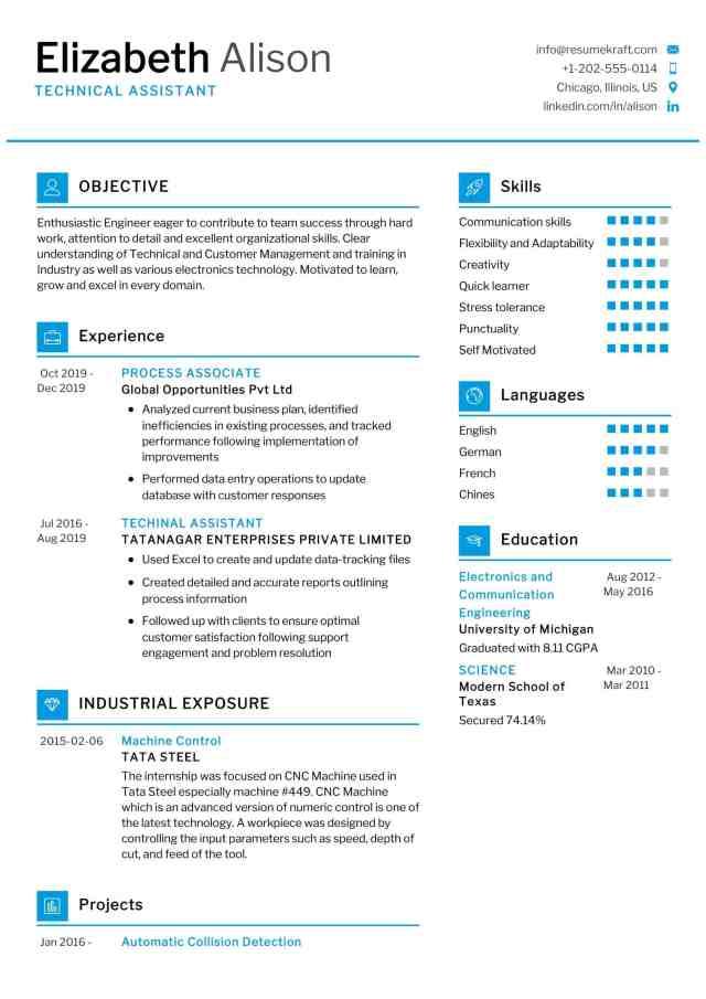 Technical Assistant Resume Sample 30  Writing Tips - ResumeKraft