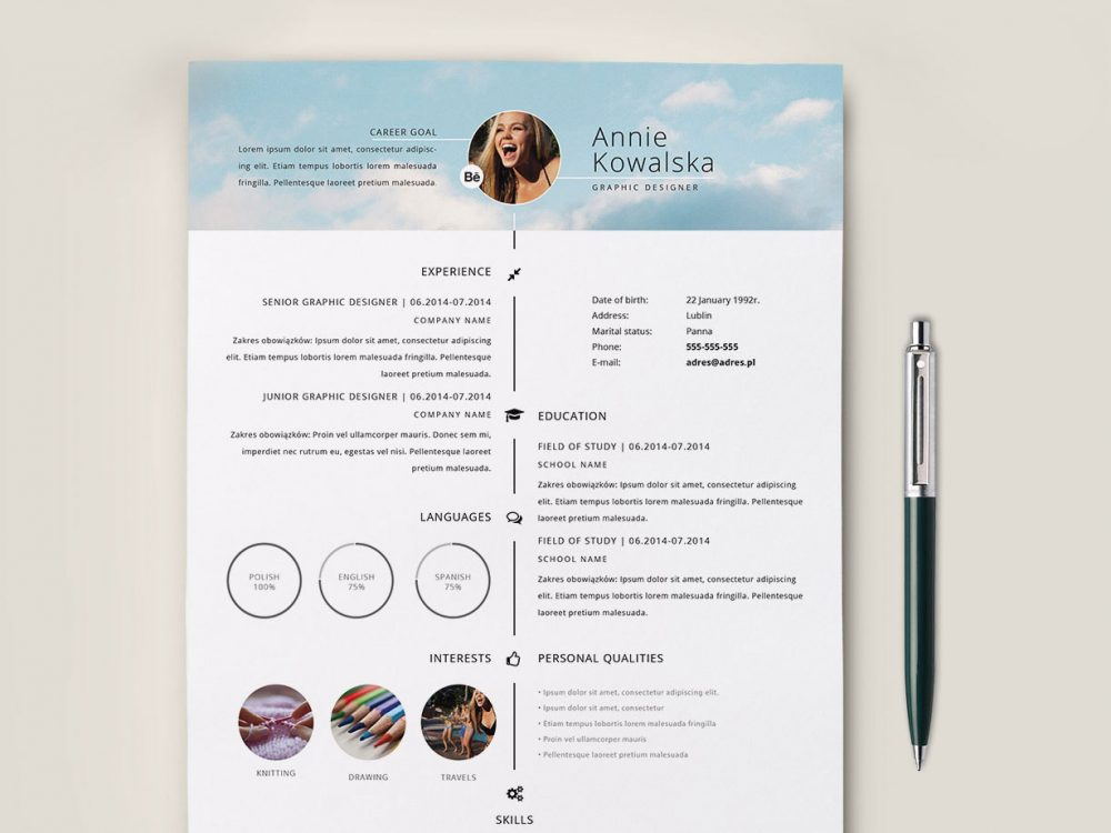 Free timeline cv template with blue color scheme for your next job opportunity. Minimalistic Timeline Resume Free Download Resumekraft