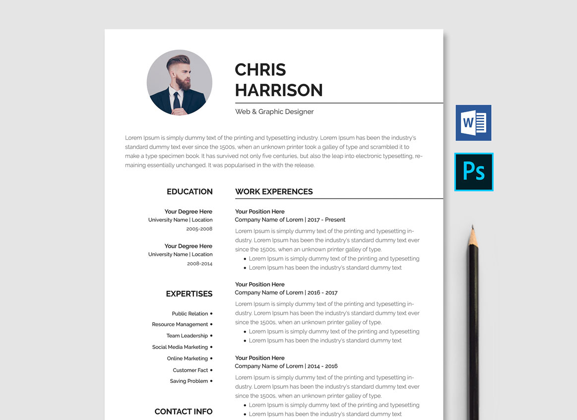 Taking online courses can help you meet many objectives, including acquiri. Professional Resume Template Free Download Word Psd Resumekraft