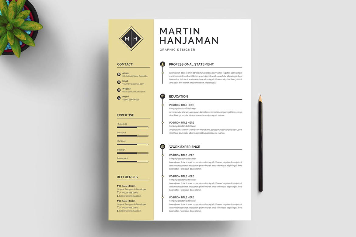 Cover design in indd, psd, ai & Word Resume Template Free Download Resumekraft