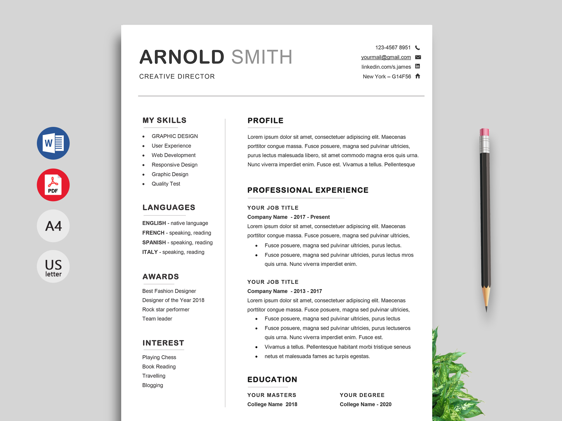 However, you probably have a lot more to offer an employer th. 150 Creative Resume Cv Template Free Download 2021 Resumekraft