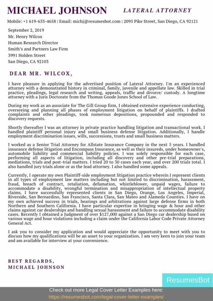 Lateral Attorney Cover Letter Samples Templates Pdf Word 2021 Lateral Attorney Cover Letters Rb