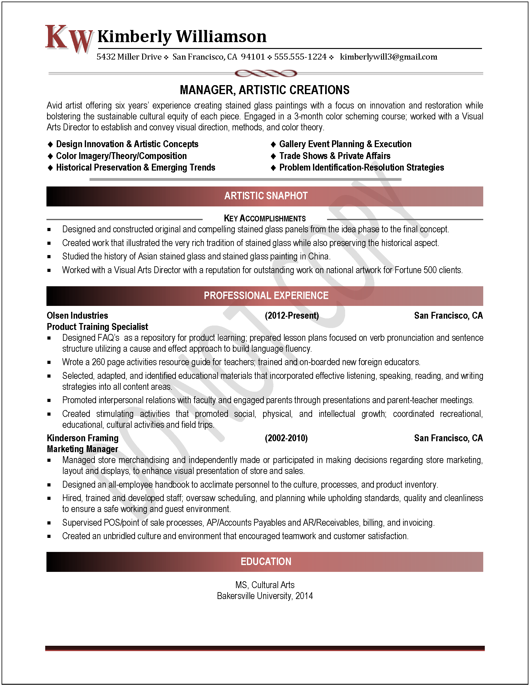 Executive Resume Samples