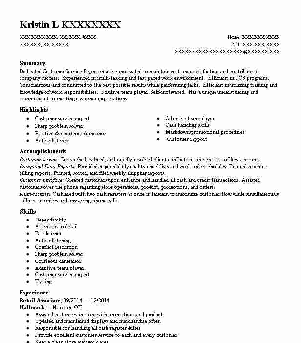 Retail Associate Objectives Resume Objective Livecareer