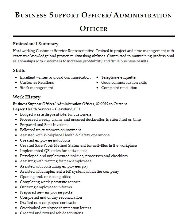 Gpa, latin honors, coursework, etc.). Entry Level Business Administration Resume Example Livecareer
