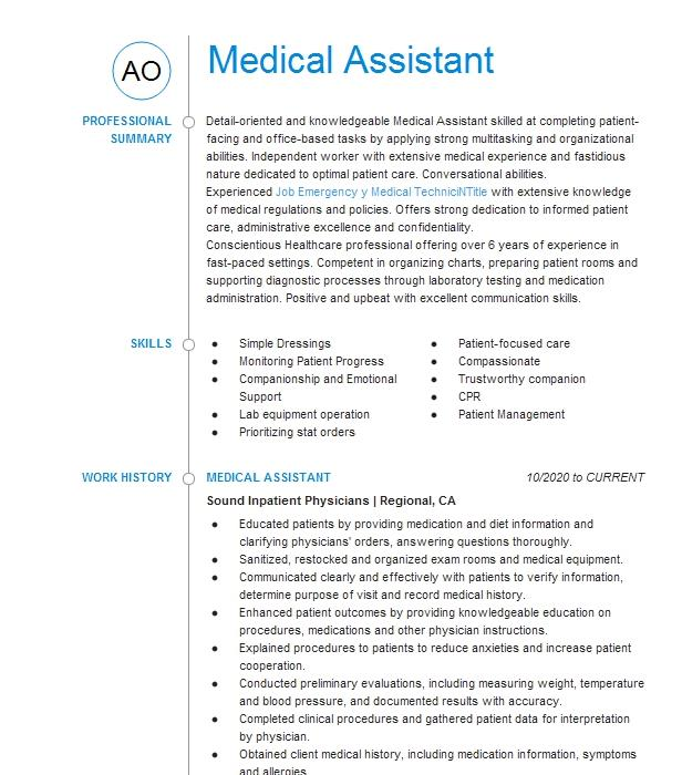 Online medical assistant programs make it easier and more convenient for people to earn a degree and start a career in the medical field, especially for those who already have jobs. Medical Assistant Objectives Resume Objective Livecareer