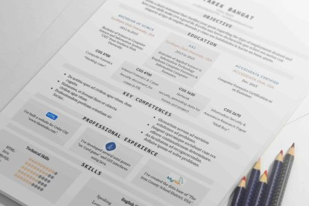 Tabula   Well Organized One Page Resume Template   Resumes Mag     One page Resume Template suits freshers  It came with a tabular design that  give it a modern look  with a well organized info  and softness that will  make