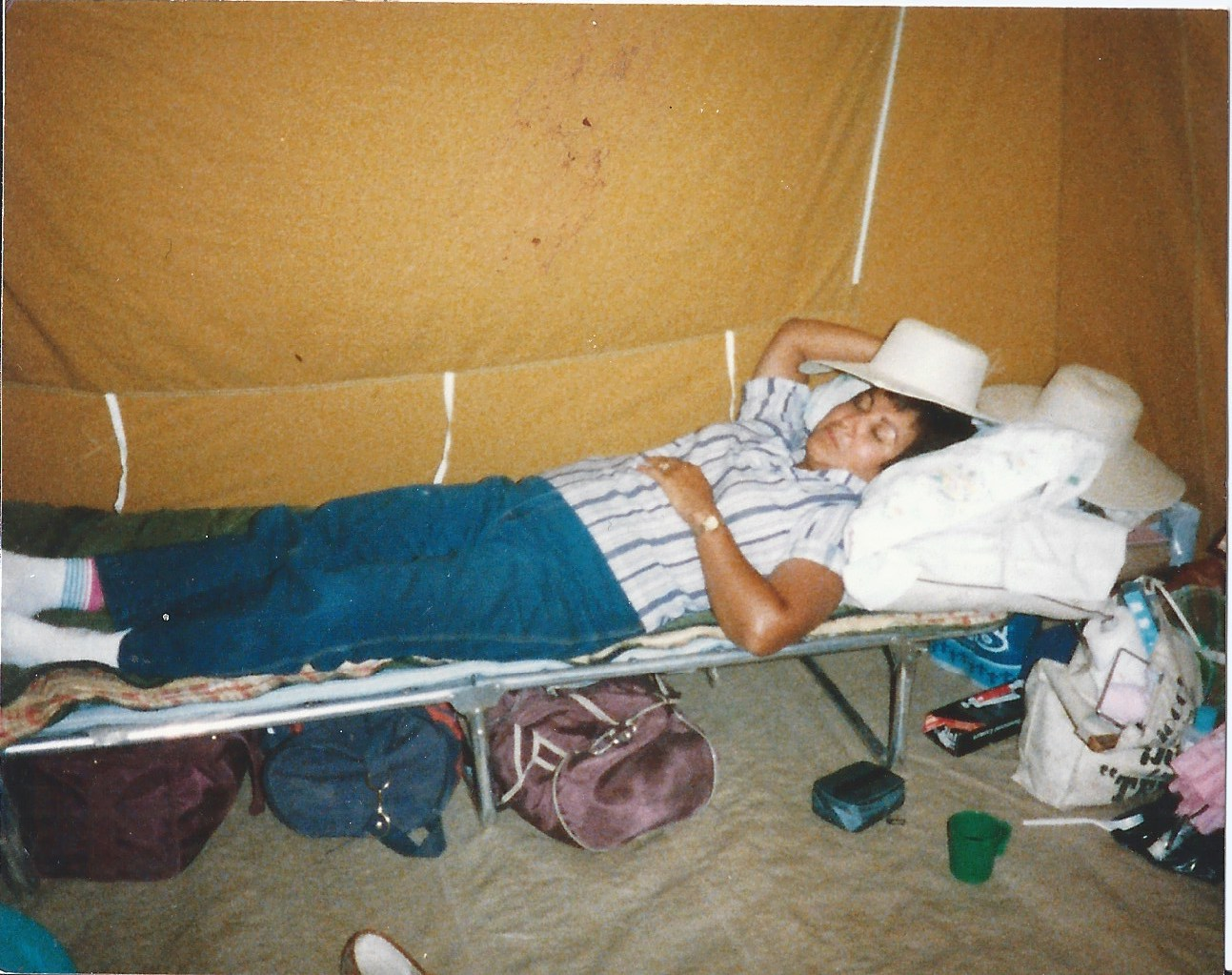 normal sleeping in cot