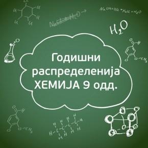 Годишни распределенија по хемија за 9 одд.