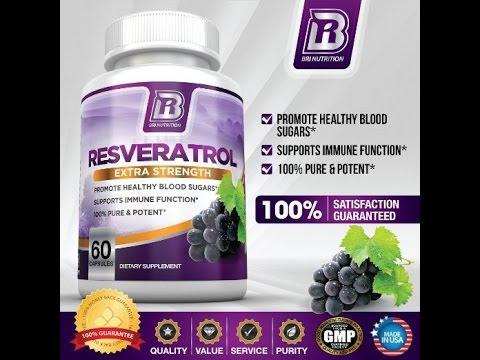 BRI Nutrition Resveratrol 1200mg Maximum Strength Supplement 30 Day Supply 60 Veggie Capsules