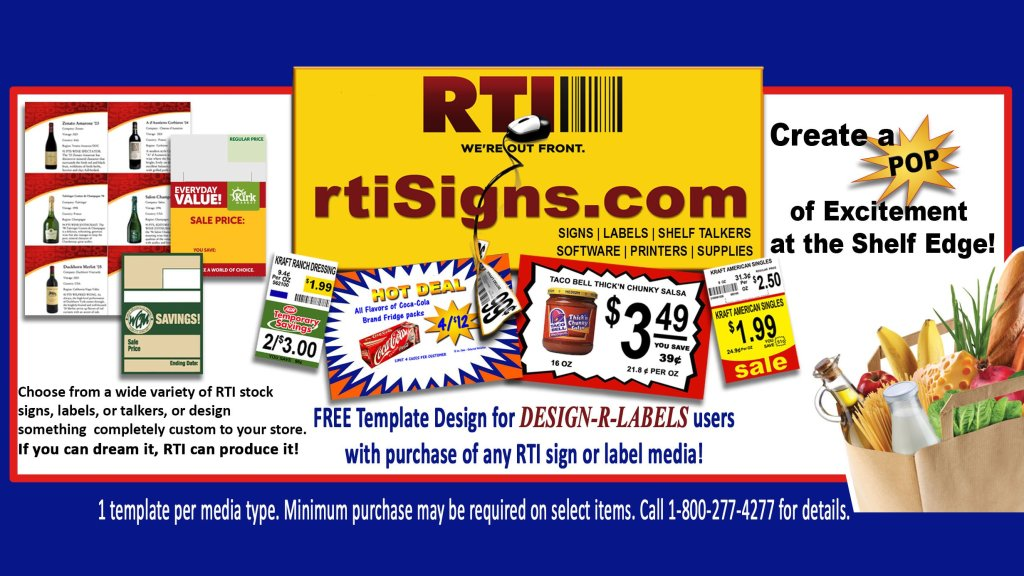 Create your own POP signs with easy to use software by RTI