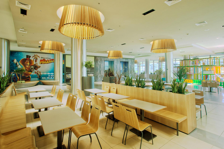 FOOD COURTS Galleria Burgas Shopping Centre By Lighting
