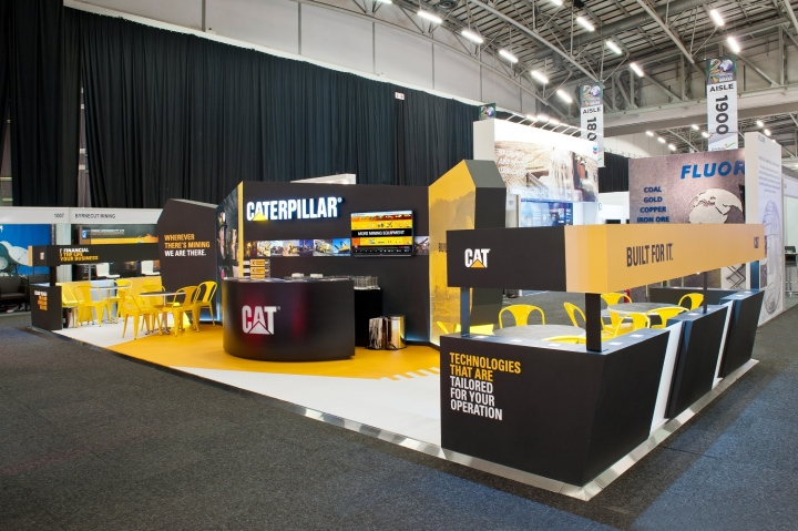 Caterpillar exhibit at Mining Indaba 2014 by Hott3D Cape Town South Africa 03 Caterpillar booth at Mining Indaba 2014 by Hott3D, Cape Town   South Africa