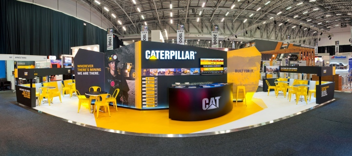 Caterpillar exhibit at Mining Indaba 2014 by Hott3D Cape Town South Africa 08 Caterpillar booth at Mining Indaba 2014 by Hott3D, Cape Town   South Africa