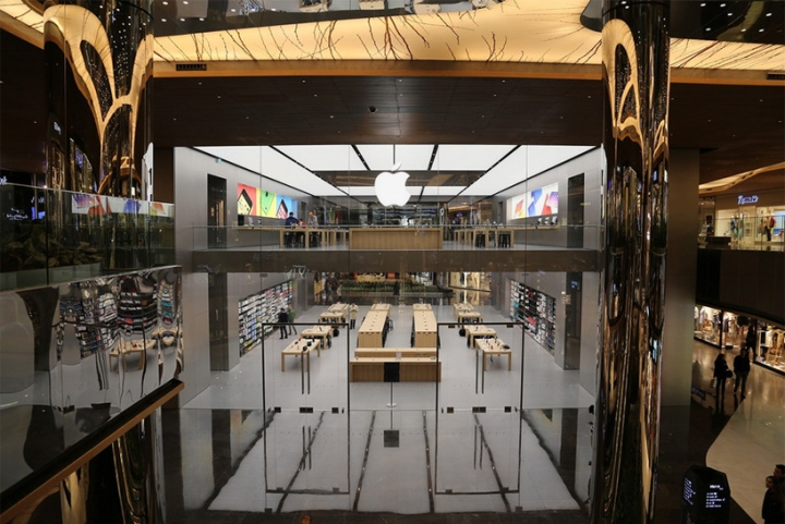 Apple store by Foster   Partners  Istanbul     Turkey http   www designboom com architecture norman foster partners istanbul apple  store 05 15 2014