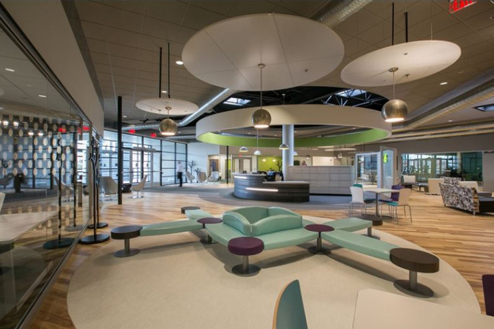 , ECOT Offices by Nvironment, Columbus – Ohio, SAGTCO Office Furniture Dubai & Interactive Systems
