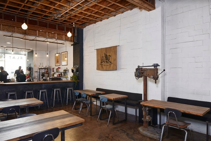Flat Track Coffee by Lilianne Steckel Interior Design  Austin     Texas Locally owned cafe and roaster  Flat Track Coffee  was founded in 2012 with  its first small shop and a separate roastery  They quickly outgrew their